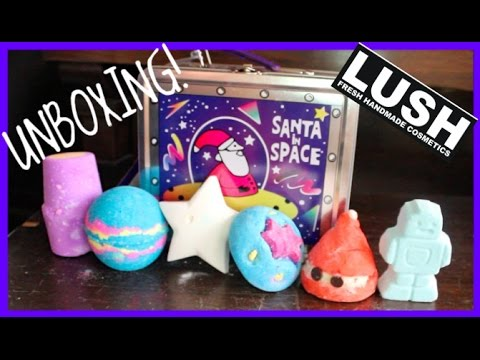 Lush santa in space gift unboxing youtube lush santa in space gift unboxing negle Image collections