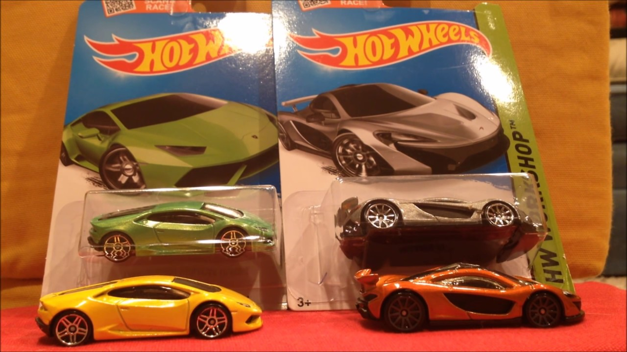 Hot Wheels Super Cars Mclaren And Lamborghini Huracan Youtube