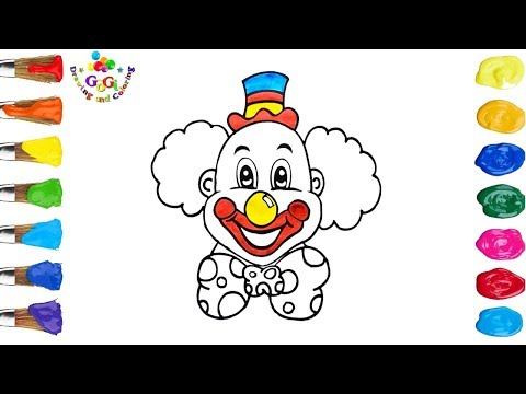 Clown Coloring Page For Kids | New Youtube Video For Kids