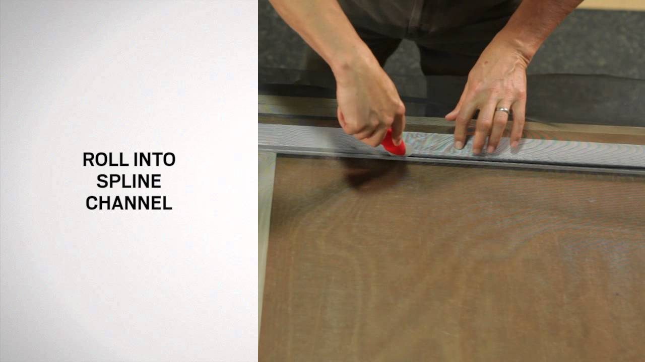 Rescreening an andersen patio door insect screen youtube planetlyrics Image collections