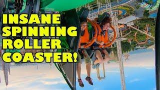Arashi INSANE Spinning Roller Coaster 4th Dimension Nagashima Spaland Japan Onride POV