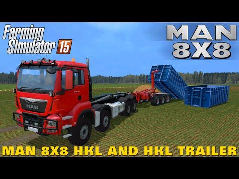Farming Simulator 15 MAN 8X8 HKL AND HKL TRAILER