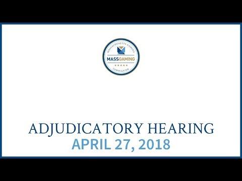 MGC Adjudicatory Hearing 4.27.18