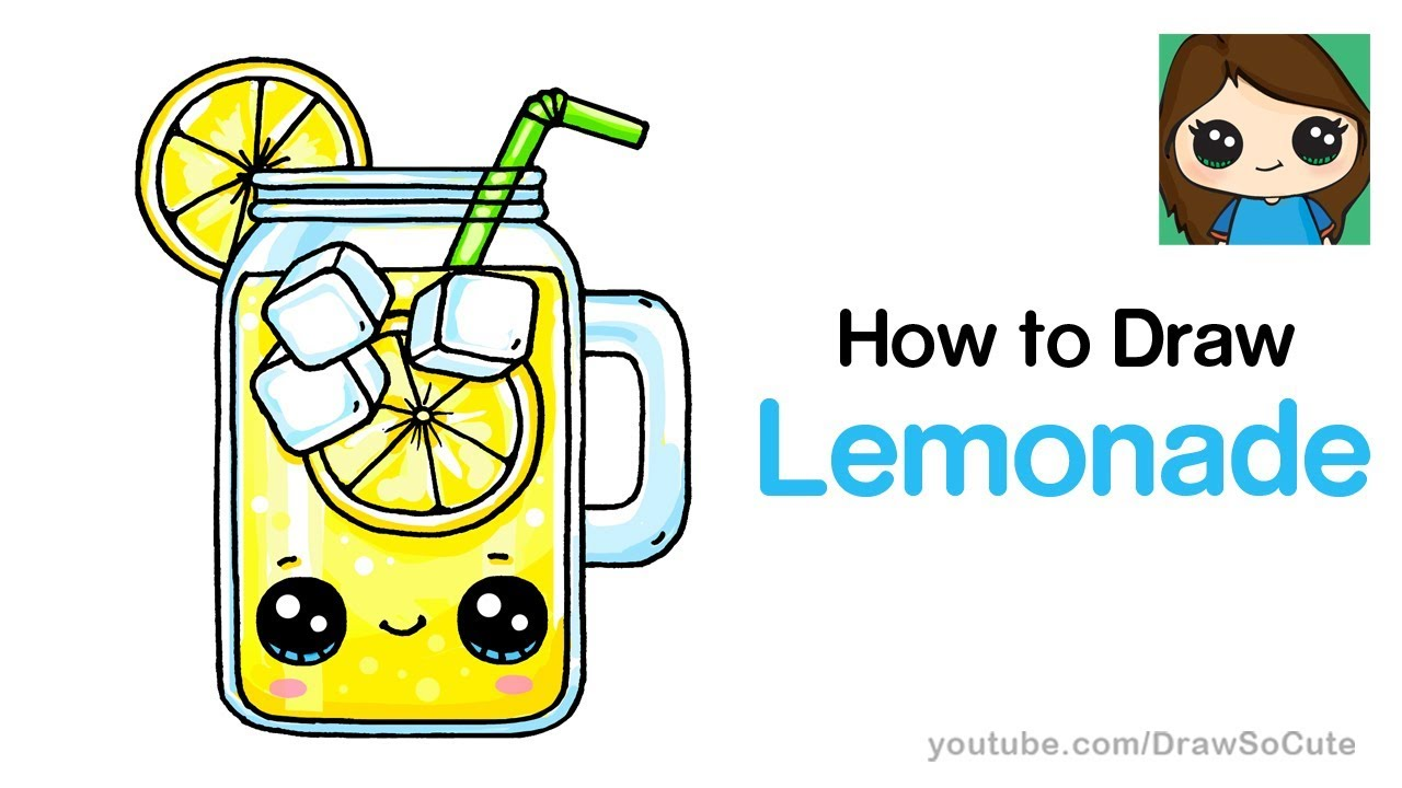 How To Draw Lemonade Easy And Cute Youtube