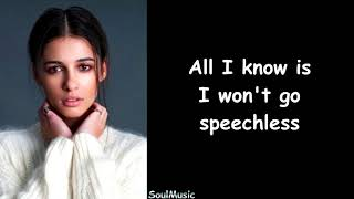 Naomi Scott - Speechless (Full) (Lyrics)