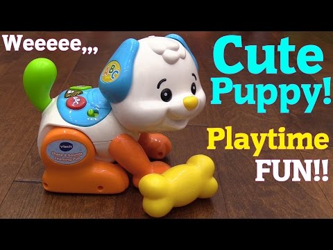 Cute Toddler's Toys: Playful Pet Puppy, Educational Toy Unboxing and Playtime w/ Hulyan & Maya