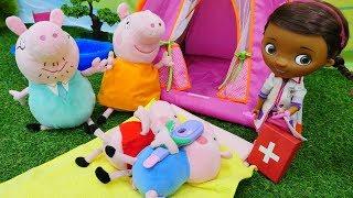Doctora Juguetes en español. Ayudamos a Peppa Pig. Vídeos chistosos.
