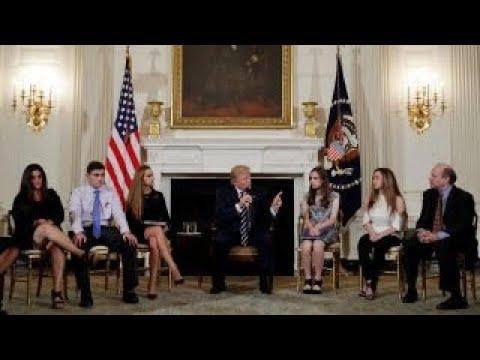 Parents, students meet with Trump over gun violence