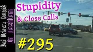 Bad Drivers Dashcam Compilation #295 - Near Crashes, Road Rage and Stupid People