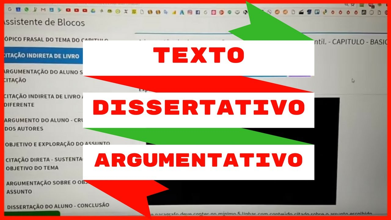 Fazer texto dissertativo