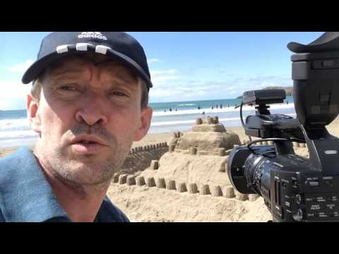 White sands beach saint David's in Wales