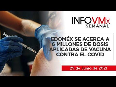 EDOMÉX SE ACERCA A 6 MILLONES DE DOSIS APLICADAS DE VACUNA CONTRA EL COVID; INFOVMx25062021