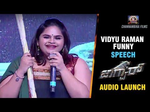 Comedian Vidyu Raman Funny Speech | Jaguar Kannada Movie Audio Launch | Nikhil Kumar