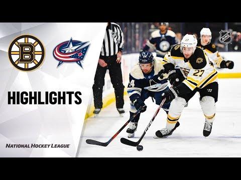 NHL Highlights | Bruins @ Blue Jackets 1/14/20