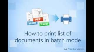 How to Print Documents in Batch Mode