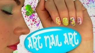 Art Nail Art! Nail Tutorial for 5 Easy Nail Art Designs. No Tools! Thumbnail