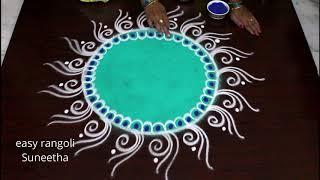 New year rangoli designs 2019 - New year Muggulu & Kolam designs