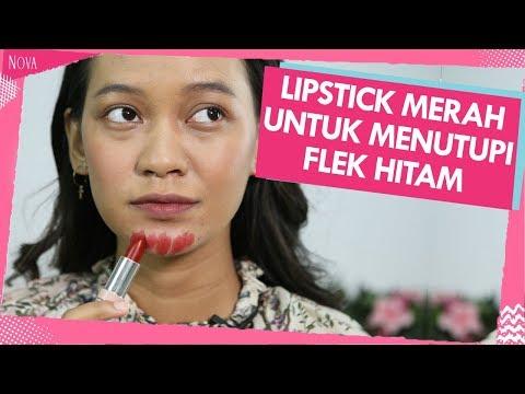 cara-menutupi-flek-hitam-dengan-lipstick
