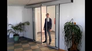 видео Автоматические входные двери