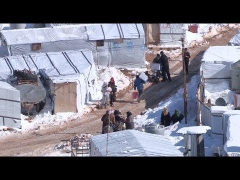 Winter Storm Makes Life Harder for Refugees at Lebanese-Syrian Border