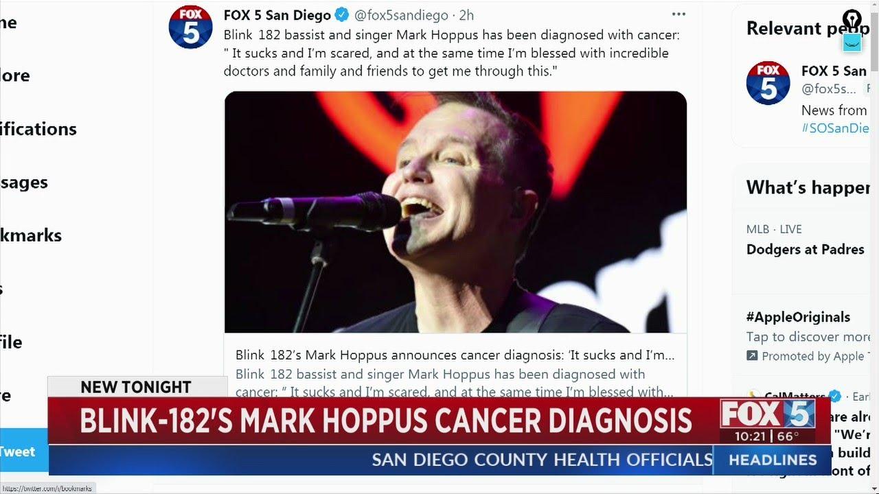 Blink-182 singer Mark Hoppus announces cancer diagnosis