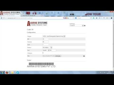 Aarna Systems Demo for Barcode generation and integration