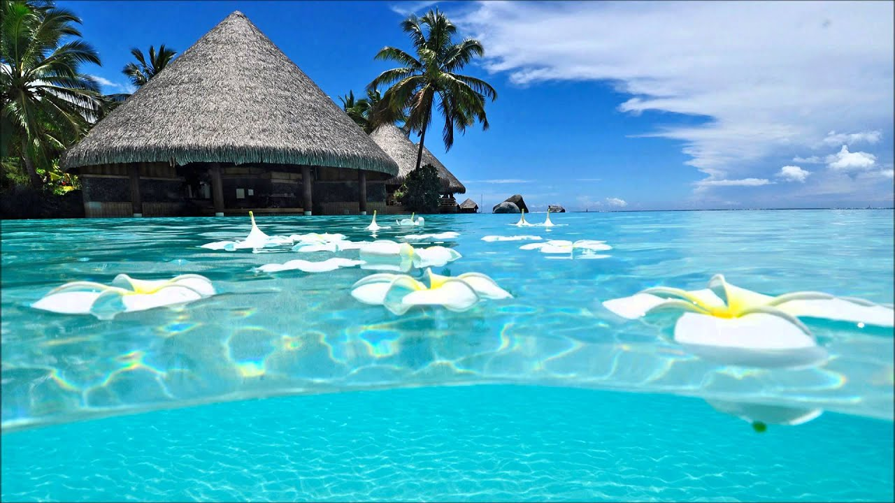 Tropical Island Beach Ambience Sound: Ambient Sea Water Sounds Calm Tropical Water Noises