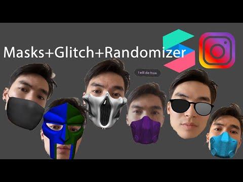 Randomizer+Glitch Effect+Mask In SparkAR - Part 15. Рандом+маски+глитч фильтр для инстаграма.