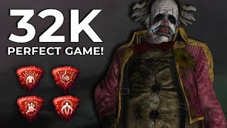 CLOWN PERFECT GAME! 32K BP! - Dead by Daylight!