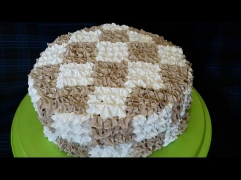 Торт РЕЦЕПТ ванильно шоколадного бисквита ШАХМАТНЫЙ ТОРТ Рецепт шахматного торта Украшение тортов