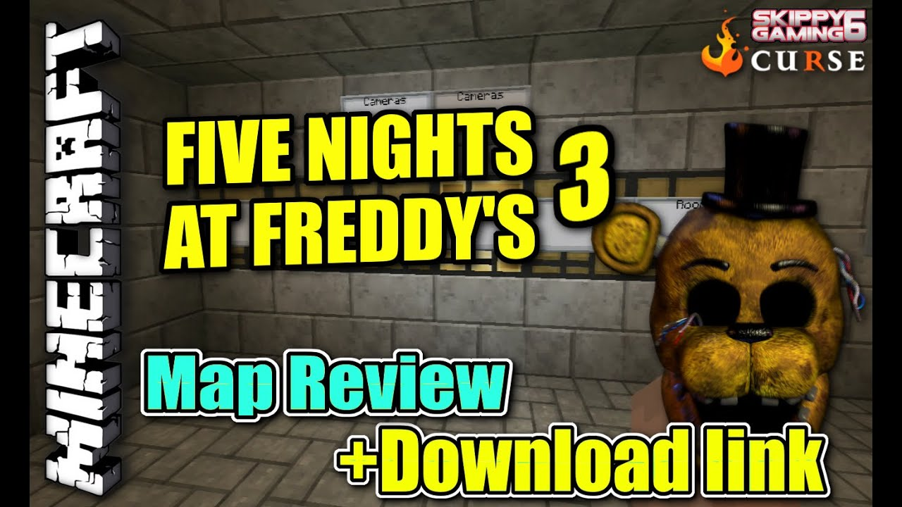 MINECRAFT - PS3 - FIVE NIGHTS AT FREDDY'S 3 - MAP REVIEW + DOWNLOAD LINK (  PS4 )