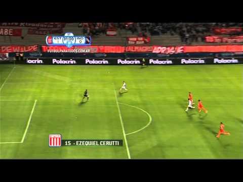 Gol de Cerutti. Estudiantes LP 1 - Independiente 0. Octavos de final. Copa Argentina 2013/14. FPT