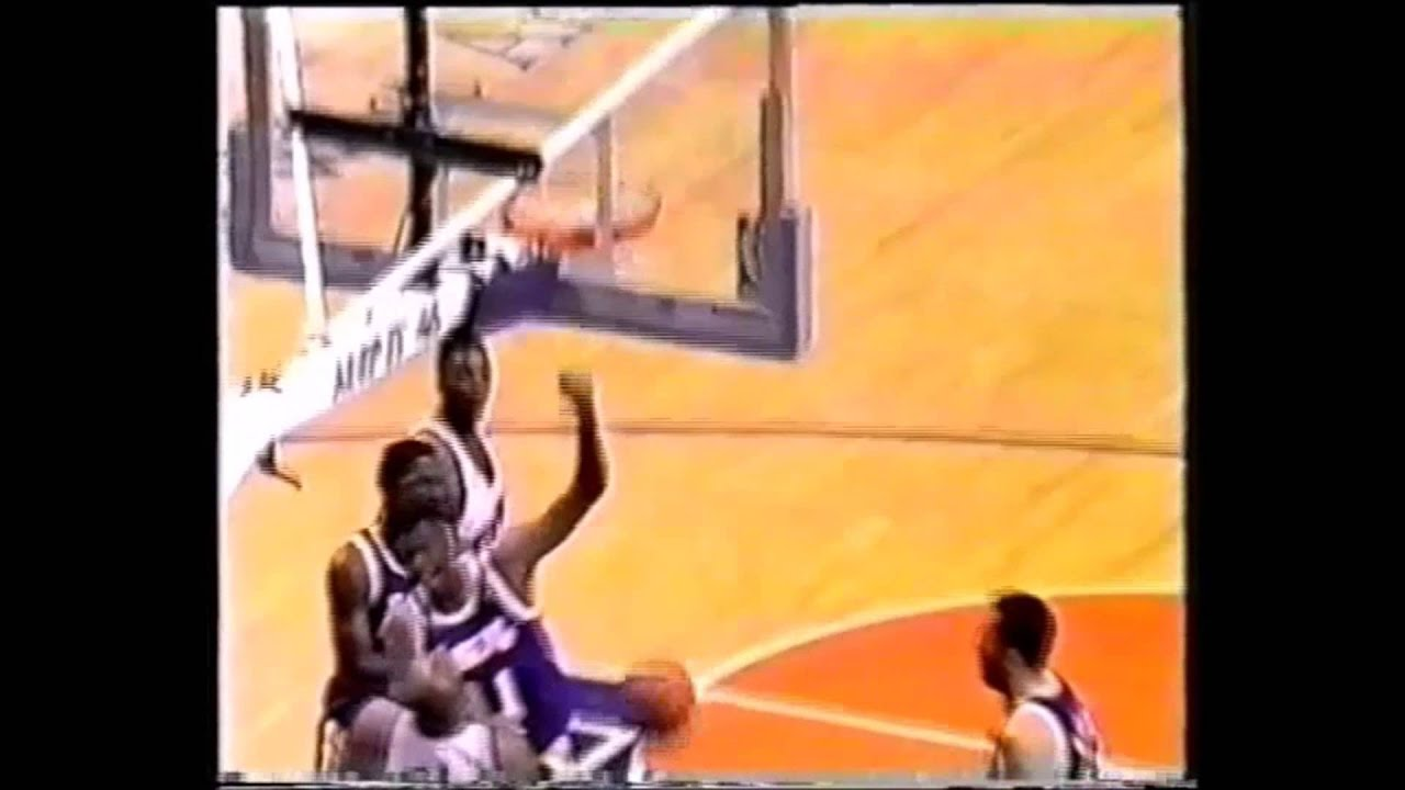 Elden Campbell With A Giant Left Handed Dunk Over Charles Barkley