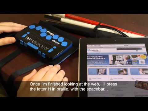 Using the Focus 14 Blue Refreshable Braille Display with iOS Devices