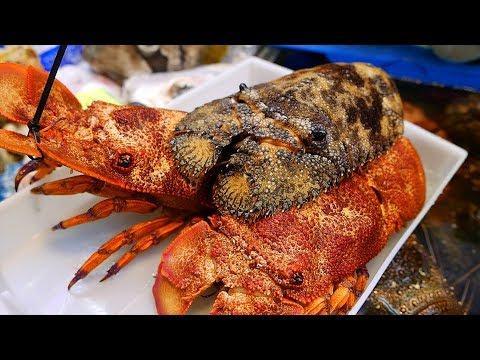Japanese Street Food - LOBSTER SUSHI Japan Seafood