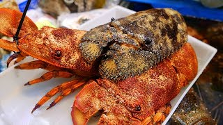 Japanese Street Food - LOBSTER SUSHI Japan Seafood