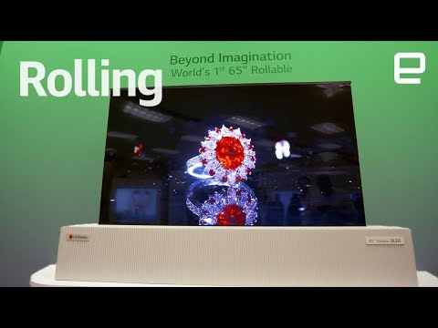 "LG's 65"" Rollable OLED TV first look at CES 2018"
