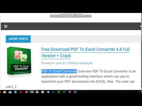 free download pdf to excel converter full version with crack