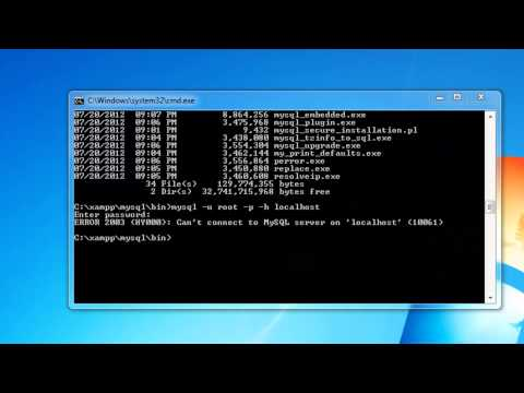 How to connect to Mysql database through windows command line (cmd)!