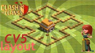Clash of Clans - Cv5 Layout anti estrelas #4 (TH5 base)