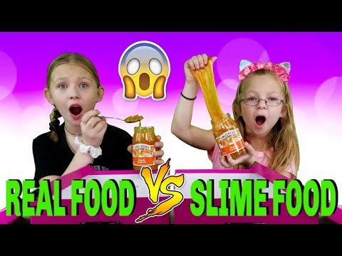 Real Food vs Slime Food Switch Up Challenge!!!