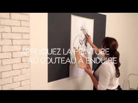 maison d co application pochoir peinture relief youtube. Black Bedroom Furniture Sets. Home Design Ideas