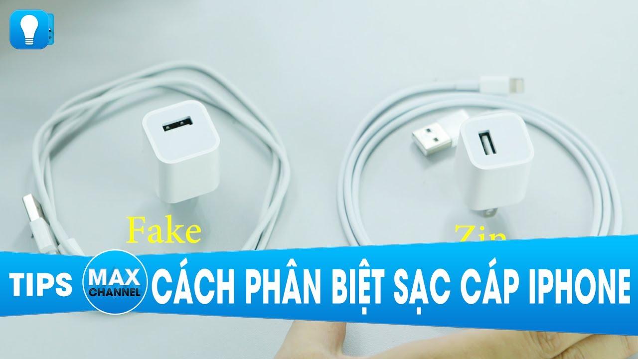 Cách phân biệt Sạc Cable iPhone sịn và Fake