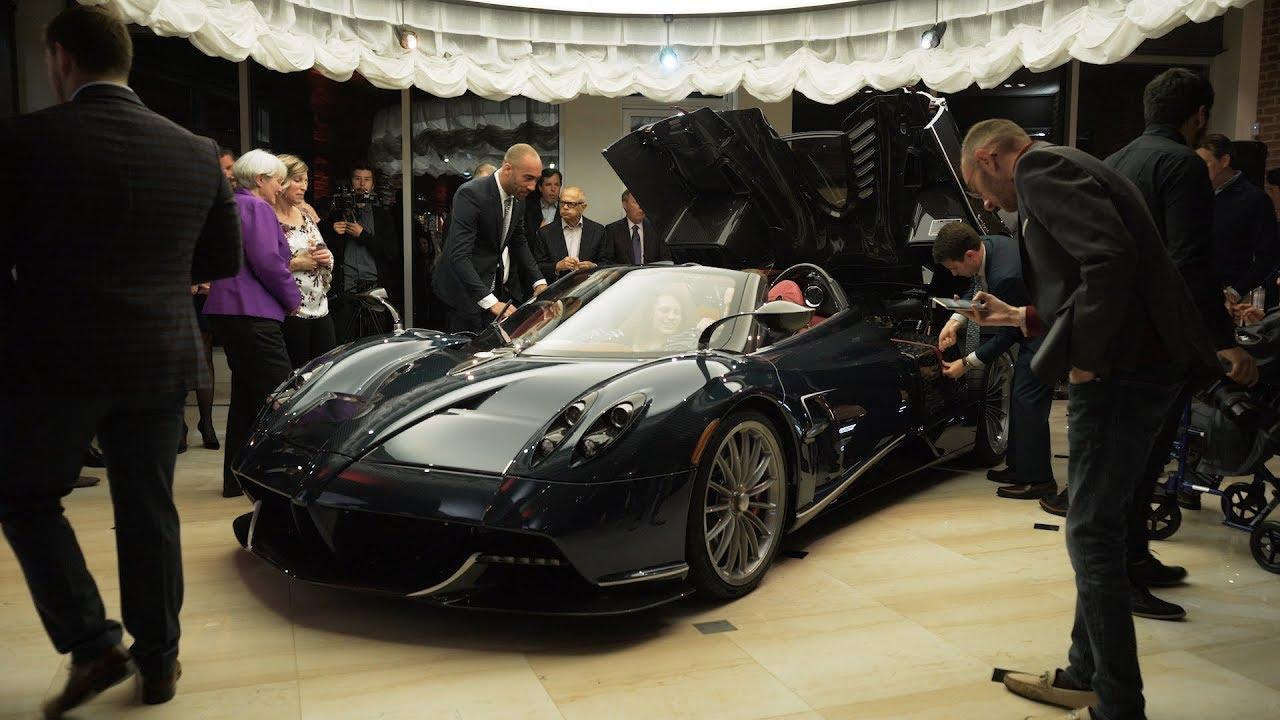 miller motorcars pagani weekend - showroom grand opening - youtube