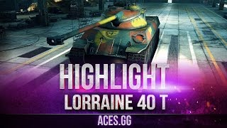 Горячая французская булка! Lorraine 40 t в World of Tanks!