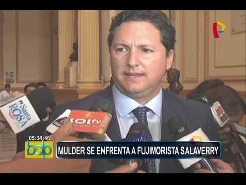 Congreso: Mauricio Mulder y Daniel Salaverry protagonizaron intercambio de palabras