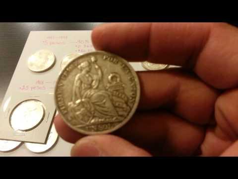 90% and 72% Mexican Mexico Pesos Silver Coins 1915 Peruvian Peru Un Sol 90% Silver Coin