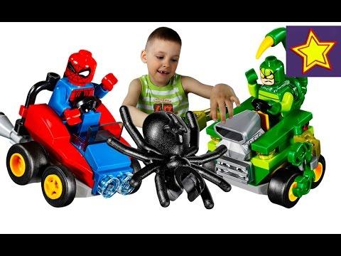 Машинки Игрушки LEGO Heroes Человек Паук против Человека Скорпиона Lego toys for kids