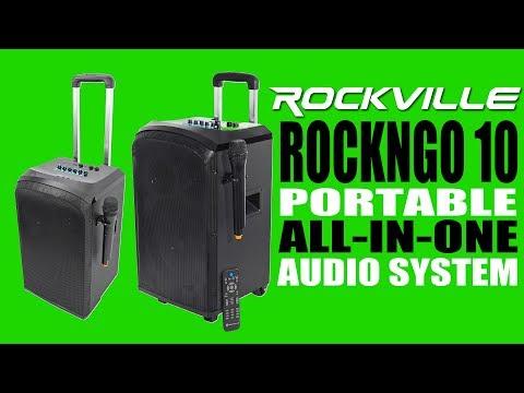 The Rockville ROCKNGO 10 is a portable, powerful, and professional Karaoke PA Speaker (MUST LISTEN!)