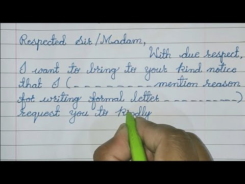 How To Write A Formal Letter Format To The School Principal // Formal Letter Format In English